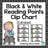 Reading Points Clip Chart: Black and White Background (Editable!)
