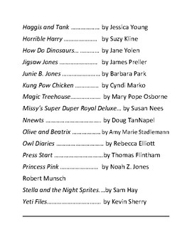 Accelerated Reader Popular Series Book List