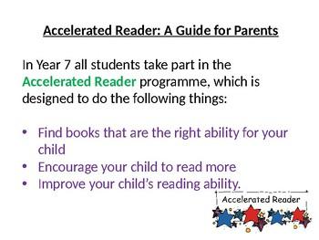 Accelerated Reader Presentation for Parents