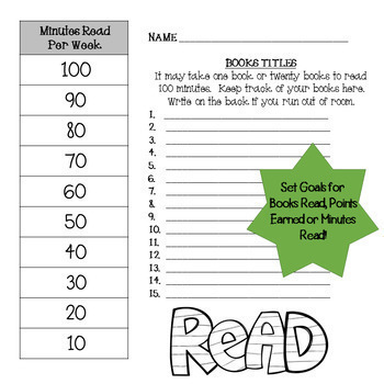 Independent Reading Progress Charts