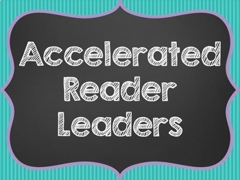 Accelerated Reader Progress Display Tracking Chart Chalkboard