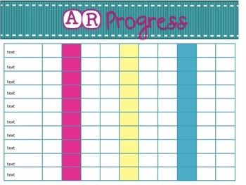 Accelerated Reader Progress Tracker {Editable}