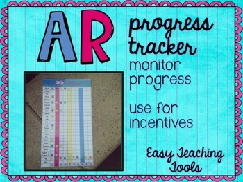 Accelerated Reader Progress Tracker {Editable}