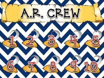 Accelerated Reader Quiz Line and Tracker Nautical/Pirate