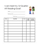 Accelerated Reader Quiz Recording Sheet