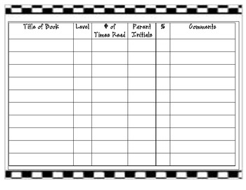 Accelerated Reader  Reading Log
