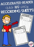 Accelerated Reader Recording Sheet