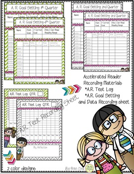 Accelerated Reader..Weekly Goal Setting, Test Log, Book Range Bookmark
