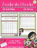 Accelerated Reader..Weekly Goal Setting, Test Log, Book Range Bookmark