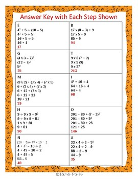 Monster Math Order of Operations FREEBIE
