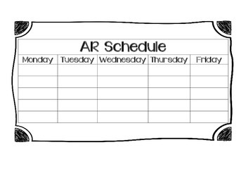 Accelerated Reader Schedule
