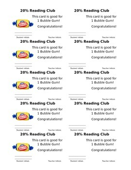 Accelerated Reader Student Directed Classroom Incentive / Reward Program