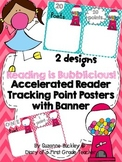 """Accelerated Reader Tracking Point Posters with Banner """"Reading is Bubblicious"""""""