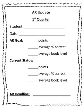 Accelerated Reader Update Form