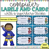 Editable Computer Username and Password Cards (Superhero Theme)