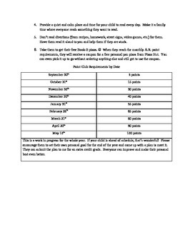 Accelerated Reader Yearly Goals Letter to Parents