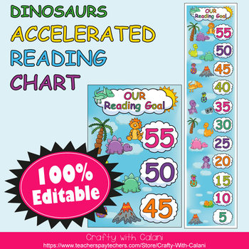 Accelerated Reading Clip Chart in Cute Dinosaurs Theme - 100% Editable