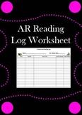 Accelerated Reading LOG Sheet