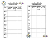 Accelerated Reading Level and Goal Sheet