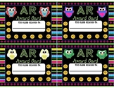 Accelerated Reading Points Punch Cards Owls Theme