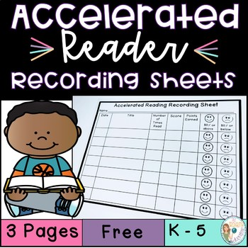 Accelerated Reading Recording Sheet Freebie