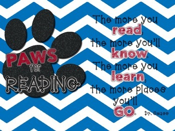 Accelerated Reading Tracker - Blue Chevron