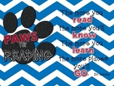 Accelerated Reading Tracker - Blue Chevron