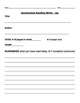 Accelerated Reading Write - Up