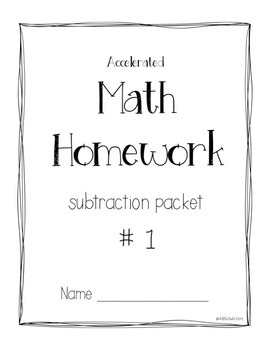 Accelerated Subtraction Packet