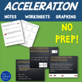 Acceleration & Graphing Motion Notes, Worksheets, and Logic Puzzle