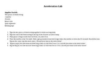 Acceleration Lab