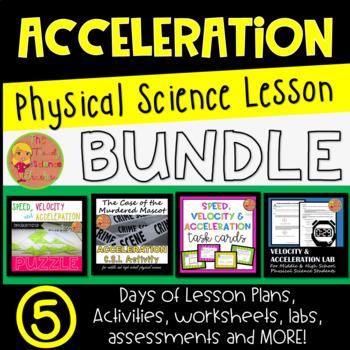 Acceleration Lesson Plan Bundle