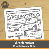 Acceleration Middle School Physics Doodle Notes