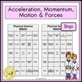 Acceleration, Momentum, Motion, and Forces BINGO