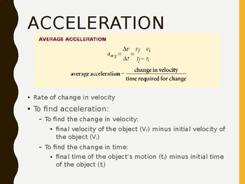 Acceleration Notes