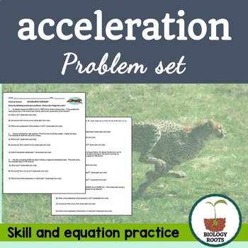 Acceleration Problem Set