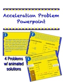 Acceleration Problems with animated answers Powerpoint