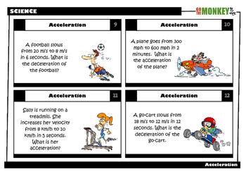 Acceleration Task Cards