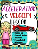 Acceleration & Velocity Lesson- Force & Motion Unit Interactive Notebook