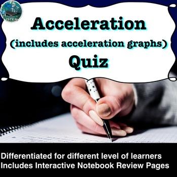 Acceleration (change in velocity) Quiz