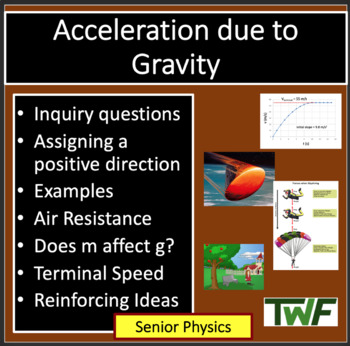 Acceleration due to Gravity - Physics PowerPoint Lesson & Notes