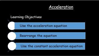 Acceleration the equation & graphs+ Free Famous Scientists & literacy in Science