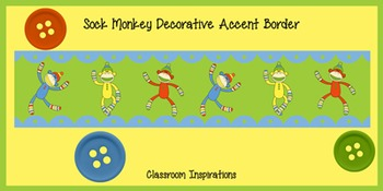 Accent Border FREEBIE – Coordinates with Sock Monkey Classroom Theme