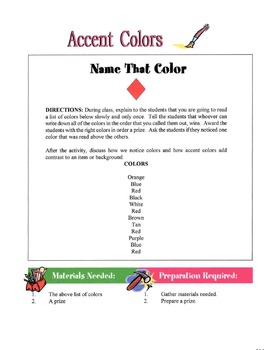 Accent Colors In Housing Design Lesson