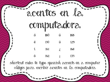 Accent Shortcuts/Acentos en la computadora