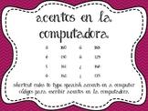 Accent Shortcuts/Acentos en la computadora
