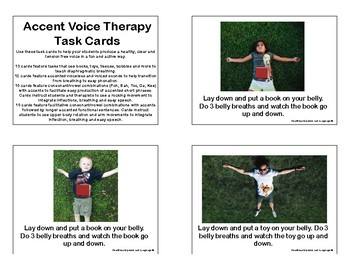 Accent Voice Therapy Task Cards