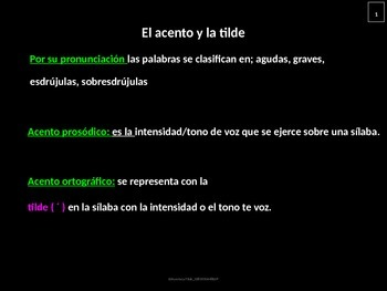 Accent and spelling rules in Spanish
