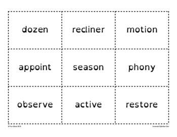 Accented Syllables Word Sort {Differentiated} + Seat work