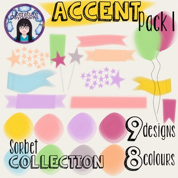 Accents & Banners Clipart - Sorbet Collection